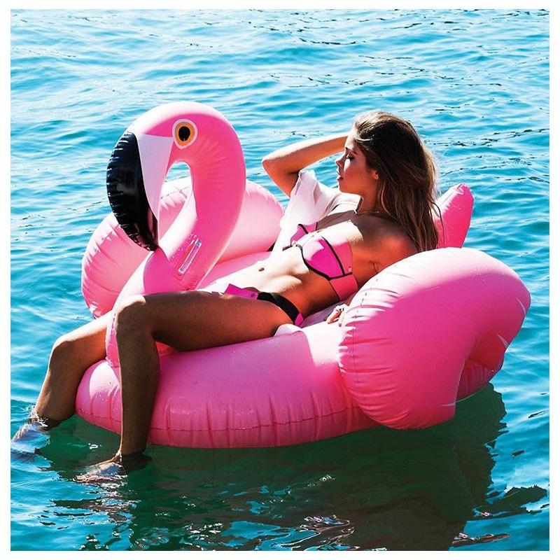 [해외]?수영장 거대한 풍선 플라밍고 수영장 플로트 수영 반지 풍선 수영장 부풀게 매트리스 풀 파티 재미있는 장난감/ Swimming Pool Giant Inflatable Flamingo Pool Float Swim Ring Inflatable Pool Float I