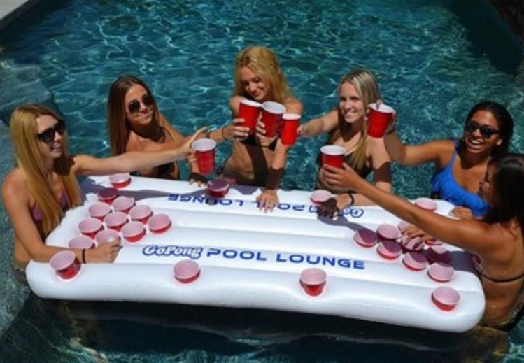 [해외]핫 세일 서머 워터 파티 재미 에어 매트리스 아이스 버킷 쿨러 170cm 6inch 28 컵 홀더 풍선 맥주 테이블 풀 플로트/Hot saleSummer Water Party Fun Air Mattress Ice Bucket Cooler 170cm 6inch 2