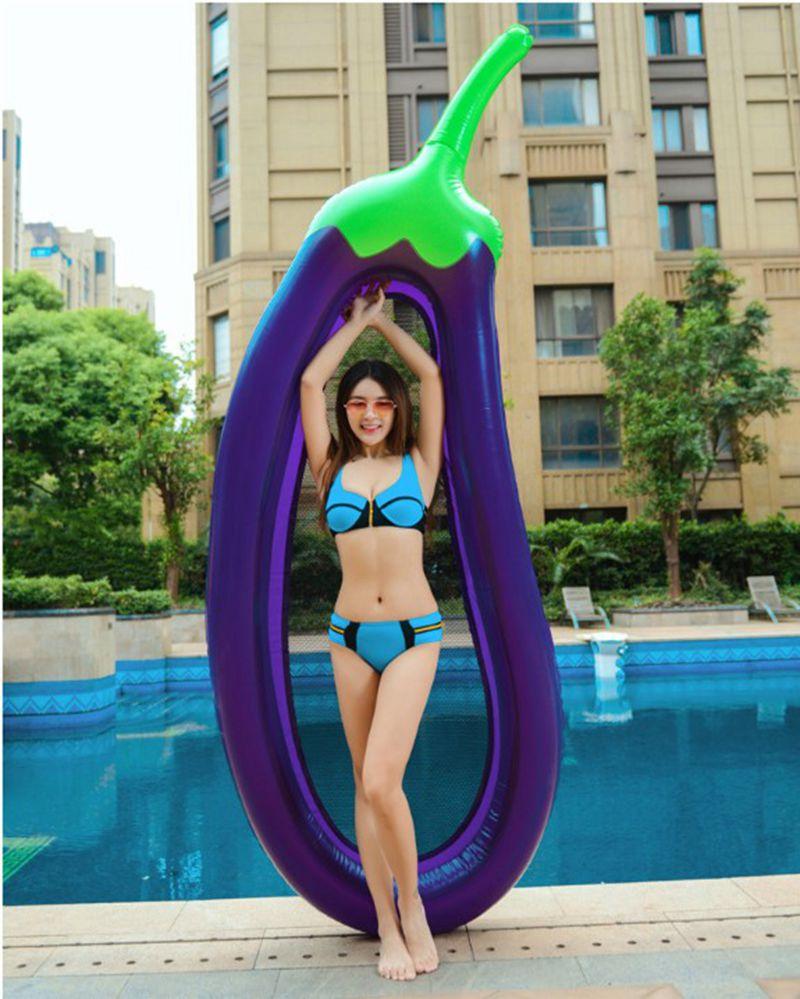[해외]뜨거운 270CM 풍선 수영 플로트 어른을풍선 부화 물 플로트 풍선 에어 매트리스 플로팅 비치/Hot 270CM Inflatable Swimming Float for Adults Pool Inflatable Eggplant Float Water Toys Infl