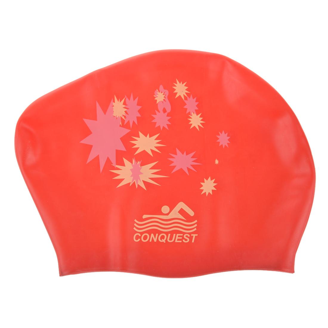 [해외]스타 디자인 레드 수영 모자 수영 모자 샤워 캡 수영 방수 실리콘 수영 모자/Waterproof silicone swimming cap swimming cap swimming cap shower cap Star Design Red
