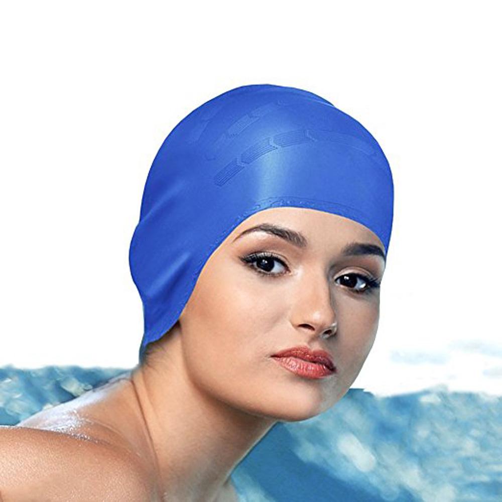 [해외]2018 탄성 방수 PU 패브릭 수영 모자 보호 귀 긴 머리카락 스포츠 수영장 모자 남자 & 여자 숙녀 수영 모자/2018 elastic waterproof PU fabric swimming cap protection ear long hair sports
