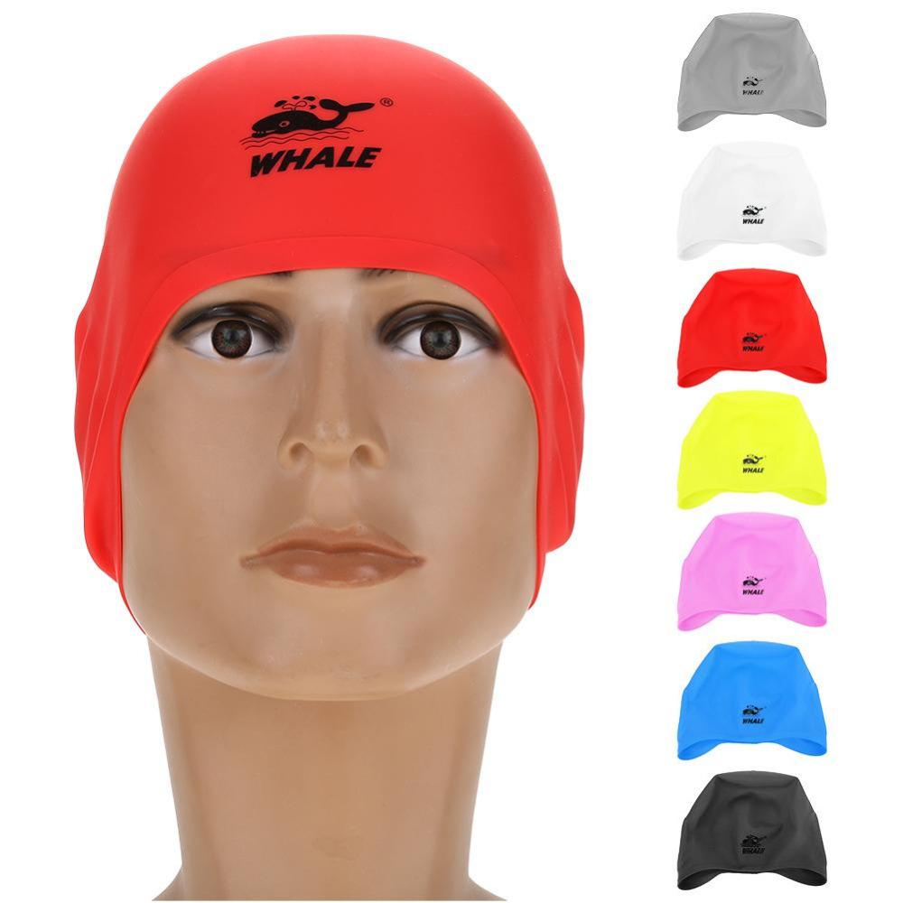 [해외]2018 New 7 Colors 수영 수영장 모자 다이빙 수영 모자 실리콘 3D 귀 커버 수영복 방수 남성용 & 여성 성인/2018 New 7 Colors Swim Pool Hat Diving Swimming Cap Silicone 3D Ear Cover