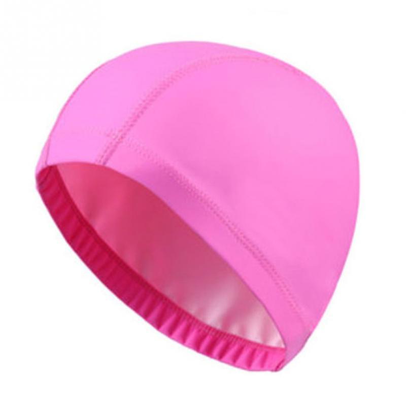 [해외]탄성 방수 우레탄 패브릭 귀를 보호 긴 머리 스포츠 수영 풀 모자 수영 모자 무료 크기 남성 & amp; 여성 성인/Elastic Waterproof PU Fabric Protect Ears Long Hair Sports Swim Pool Hat Swim