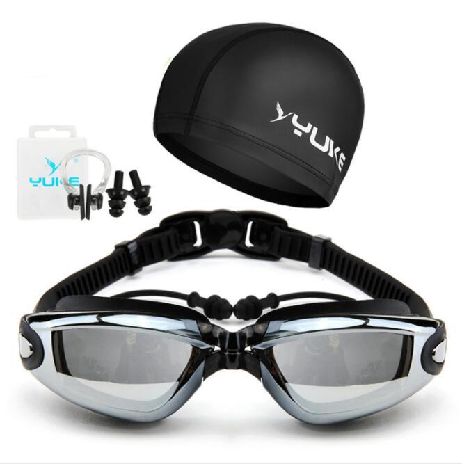 [해외]Profesional Anti-Fog 자외선 방수 실리콘 수영 수영 안경 성인 수영 수영 안경 안경 수영복 모자 정장/Profesional Anti-Fog UV Waterproof Silicone swimming goggles water swimming glas