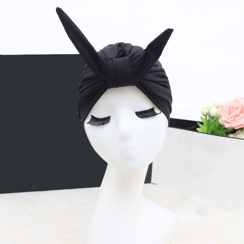 [해외]2018 NEW 수영 풀 귀여운 토끼 수영 모자 탄성 모자 여성용 수영복 모자 긴 머리 보호 귀 보호 대형/2018 NEW Swim Pool Cute Rabbit Swimming Cap elastic Hat Free size for Women Bathing Ca