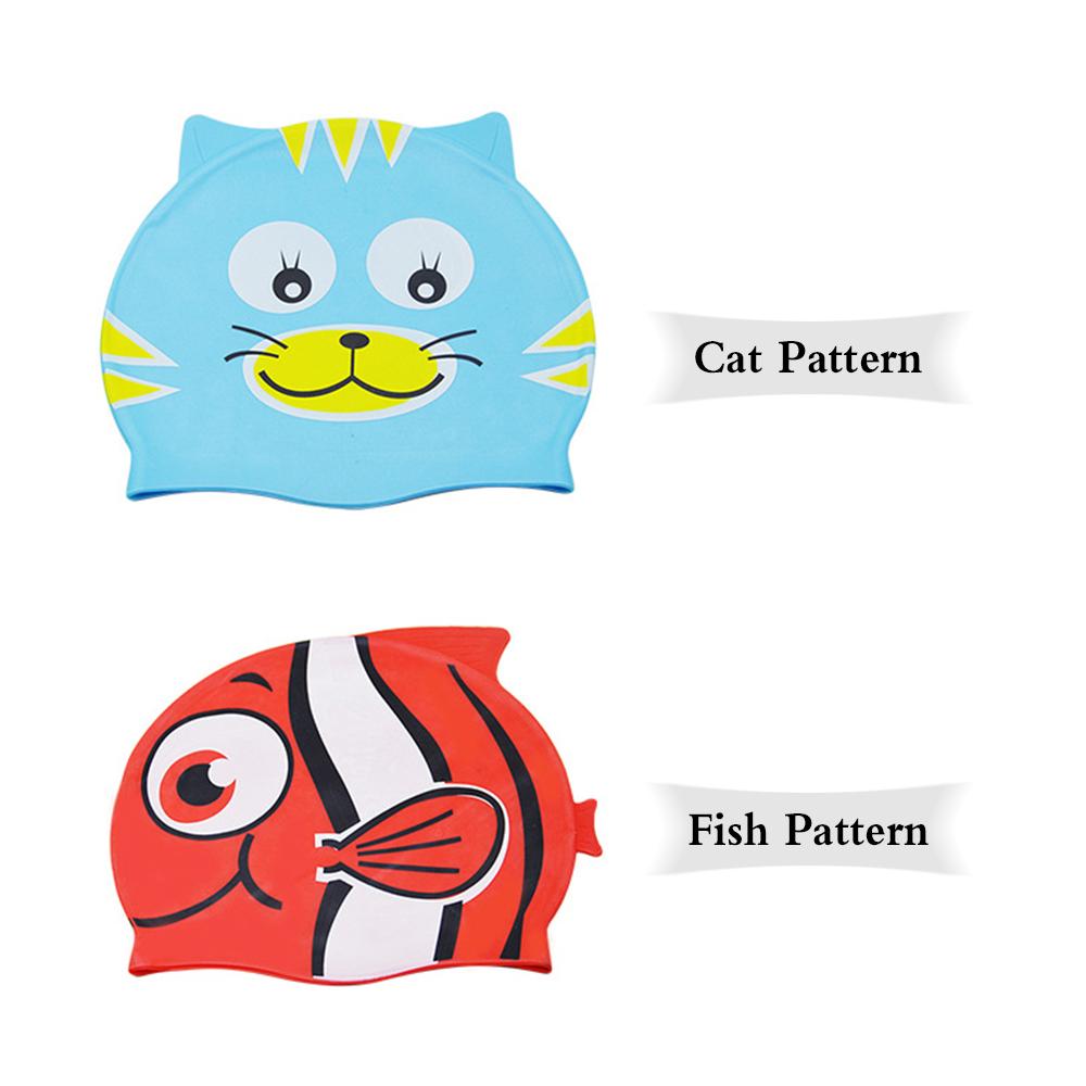 [해외]2018 실리콘 키즈 수영 모자 방수 수영 모자 소녀와 소년을편안한 생선 / 고양이 모양 모자 귀 수영 풀 모자/2018 Silicon Kid Swimming Cap Waterproof Swimming Caps Comfortable Fish/Cat Shape H