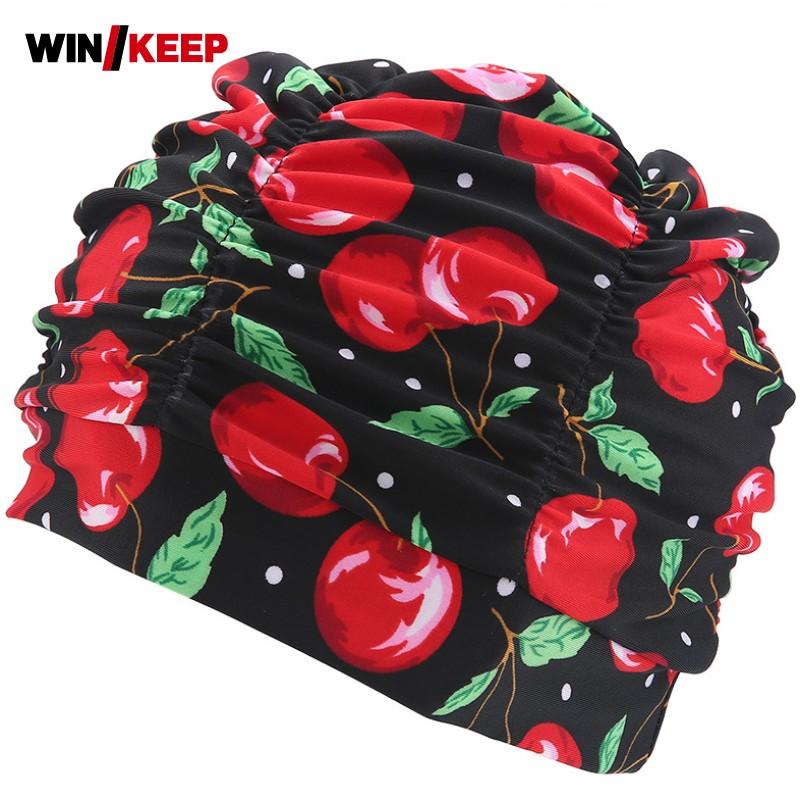 [해외]풀 수영 모자 숙녀 긴 머리카락 화려한 꽃 프린트 수영복 편안한 탄성 목욕 모자 귀 보호 Natacion 모자/Pool Swimming Caps For Ladies Long Hair Colorful Floral Printed Swimwear Comfort Ela