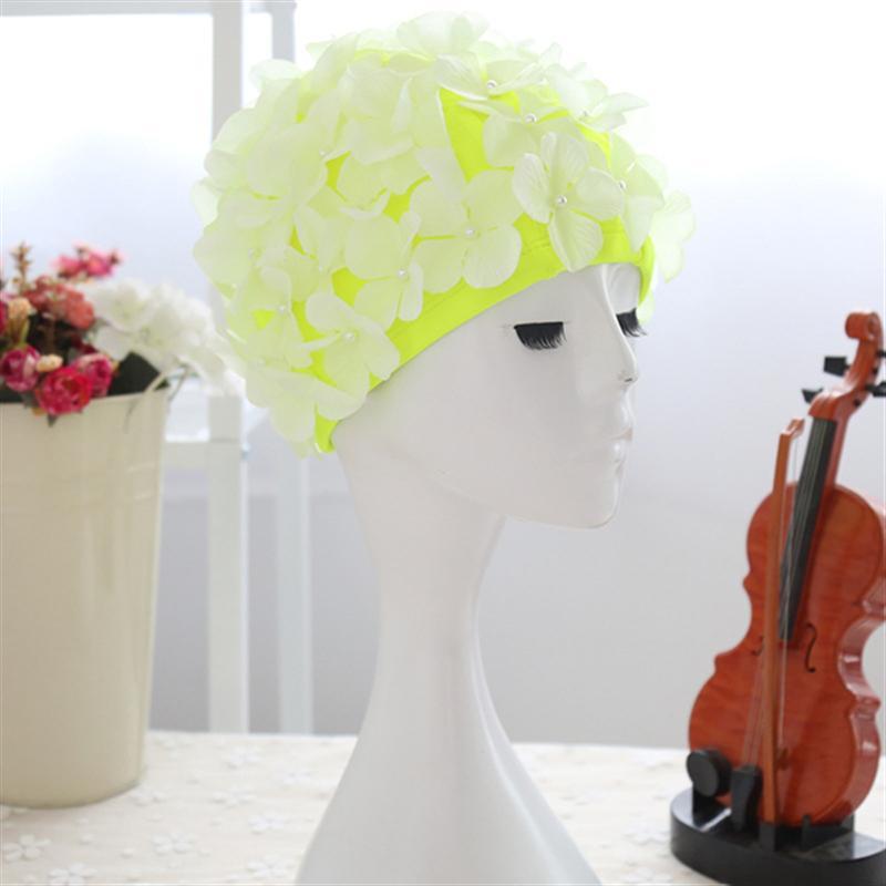 [해외]수영 모자 꽃 꽃잎 세련된 수영 모자 입욕 캡 크기 L 여성을위한/Swim Cap Floral Petal Stylish Swimming Hat Bathing Caps Size L for Women