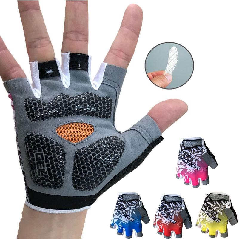 [해외]실외 자전거 장갑 충격 방지 젤 패딩 자전거 장갑 남자 자전거 반 손가락 장갑 여자 MTB 레이싱 장갑/Outdoor Cycling Gloves Shockproof Gel padded Bike Glove Men Bicycle half Finger Gloves W