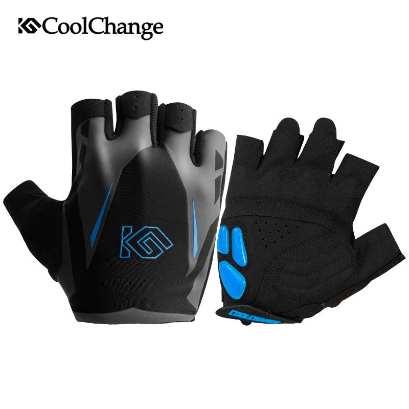 [해외]CoolChange 사이클링 장갑 여름 스포츠 안티 땀 젤 자전거 장갑 Anti-slip 통기성 하프 핑거 자전거 장갑 남성 여성을위한/CoolChange Cycling Gloves Summer Sports Anti-sweat GEL Bicycle Gloves