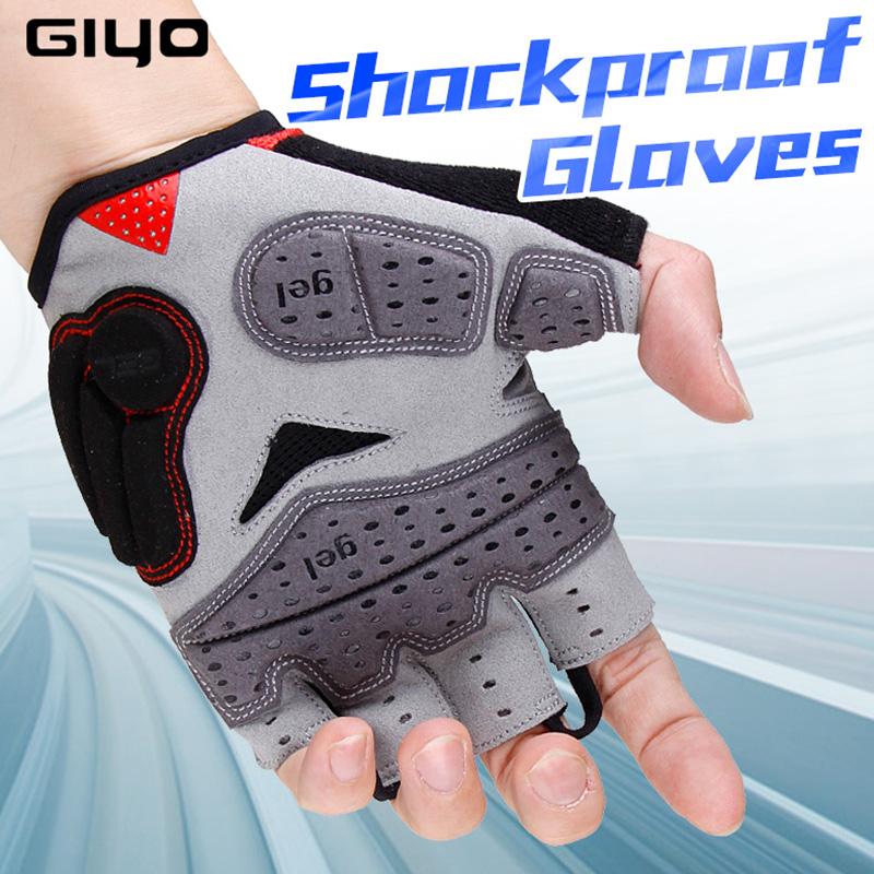 [해외]GIYO 2018 여름 자전거 장갑 젤 반 손가락 Shockproof 스포츠 체육관 장갑 MTB 산악 자전거 자전거 장갑 남자 / 여자/GIYO 2018 Summer Cycling Gloves Gel Half Finger Shockproof Sport Gym G