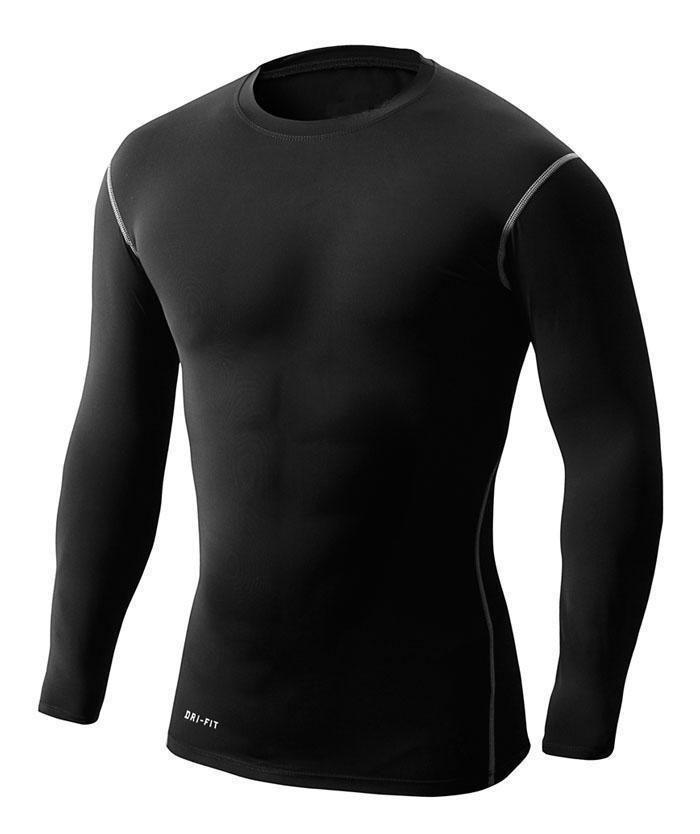 [해외]남자의 excercising가 최고 통기성 긴 Retail 압축 꽉 셔츠/Men&s Excercising Top Breathable Long Sleeves Compression Tight Shirt