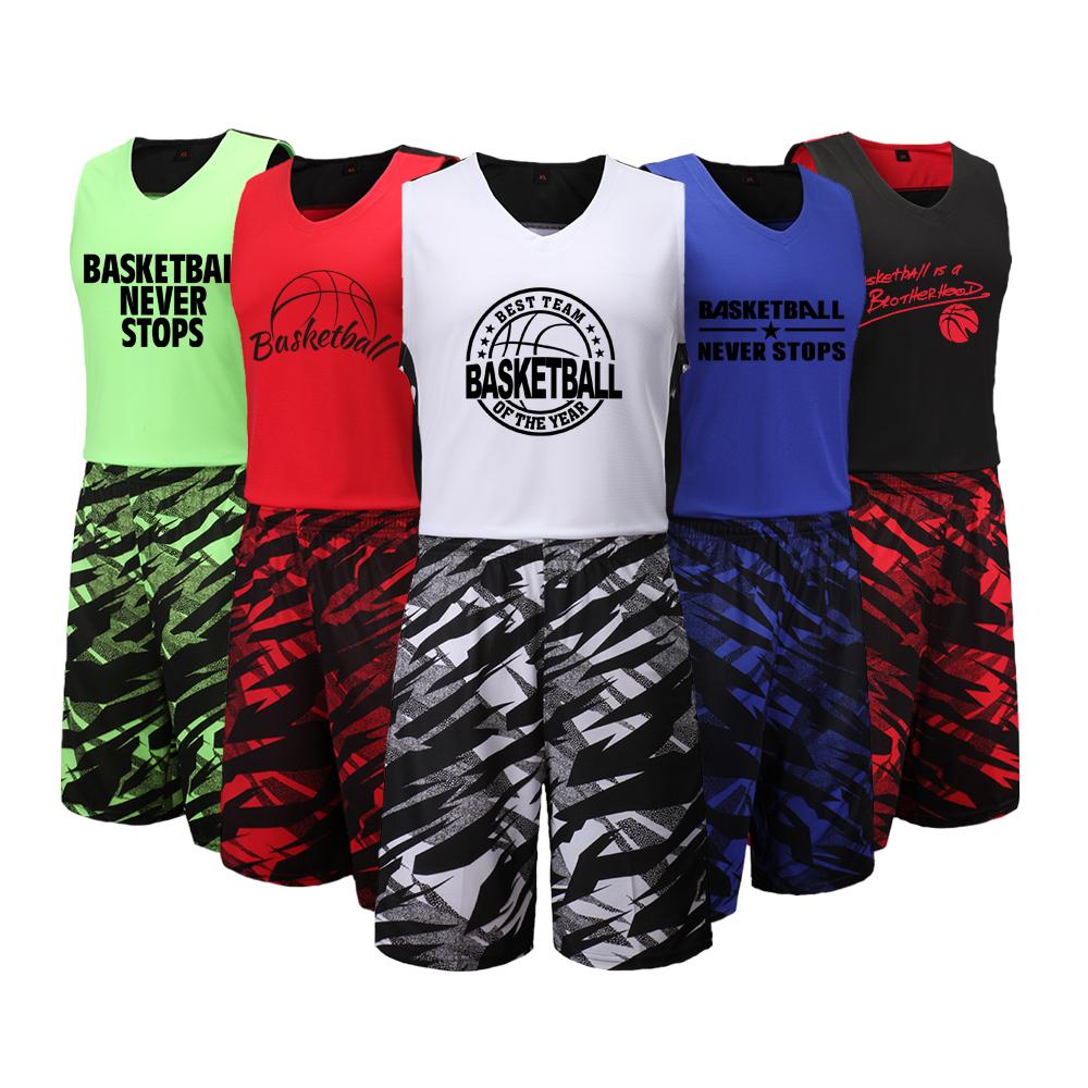 [해외]Adsmoney Men & s Basketball Jersey Set 사용자 지정 TEAM 유니폼 셔츠 착용 Summer College Basketball Homme Tracksuit/Adsmoney  Men&s Basketball Jersey Set C