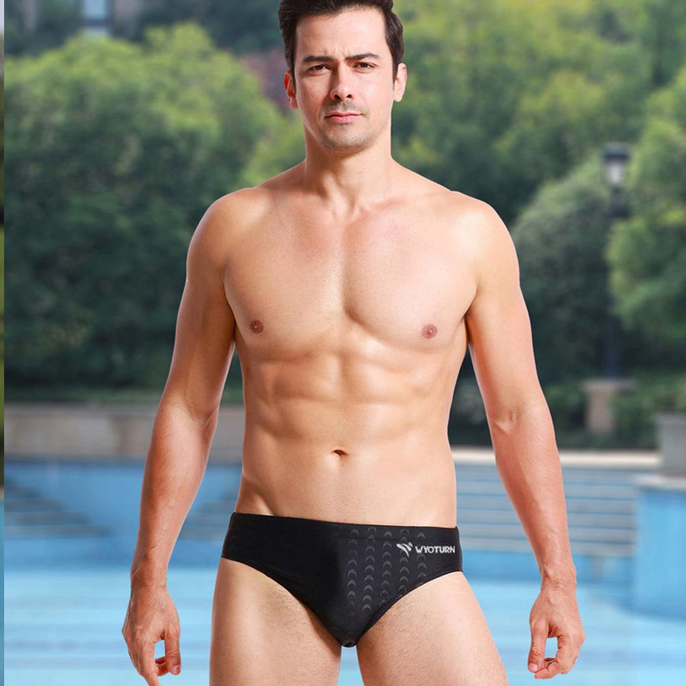 [해외]WYOTURN Professional Black Swimwear men 빠른 건조 남성 수영복 수영복 스포츠 수영 반바지 상어 피부 남성용 팬티/WYOTURN Professional Black Swimwear men Quick Dry Men Swimsuit Sw
