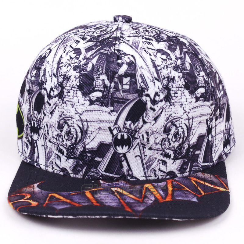 [해외]남자 Snapback 야구 모자 DC COMICS 배트맨 힙합 브랜드 Casual Adjustable Cotton Hats Cap/Men Snapback Baseball Cap DC COMICS Batman Hip hop Brand Casual Adjustabl