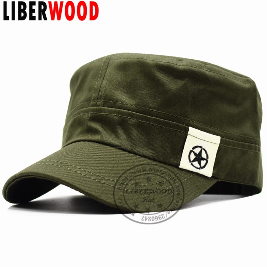 [해외]LIBERWOOD 남자 & s 전술 모자 공군 모자 평면 탑 모자 군대 군대 모자 Planas 선원 패트롤 피로 모자 OD 녹색/LIBERWOOD Men&s Tactical Hats Air Force Caps Flat Top hat Peaked Army