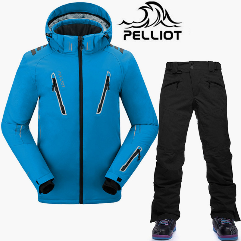 [해외]Pelliot -30 학위 스노우 보드 정장 남성 최고 품질 겨울 스키 정장 통기성 방수 브랜드 스키 자 켓 스노우 보드 바지 S-XL/Pelliot -30 Degree Snowboarding Suits Men Top Quality Winter Ski Suit