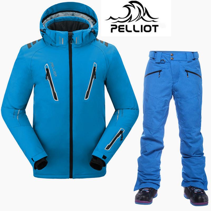 [해외]펠리 오 브랜드 최고 품질의 스키 복 남성 슈퍼 따뜻한 방수 스키 자켓 스노우 보드 정장 통풍 눈 겨울 눈 정장 남성/Pelliot Brand Top Quality Ski Suit Men Super Warm Waterproof Ski Jacket Snowboar