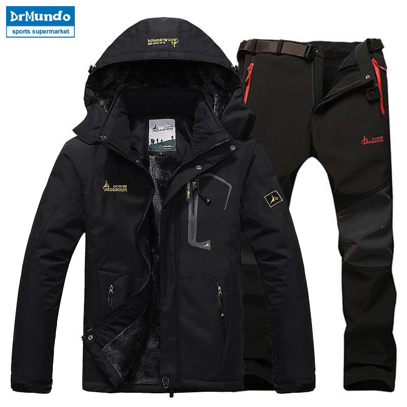 [해외]스키 자켓 정장 남자 방수 플리스 스노우 자켓 열 코트 야외 마운틴 스키 스노우 보드 자켓 플러스 사이즈 브랜드/Ski Jacket suits Men Waterproof  Fleece Snow Jacket Thermal Coat Outdoor Mountain S