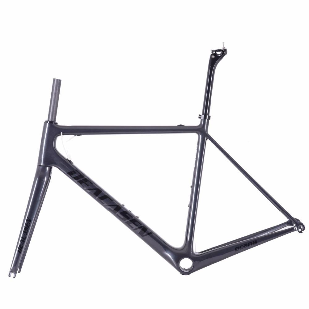 [해외]2018l 탄소 섬유로드 프레임 Di2 & 기계식 자전거 카본로드 프레임 + 포크 + 시트 포스트 + 헤드셋 + 클램프 카본로드 자전거/2018lighter carbon fiber road frame Di2&Mechanical racing bike