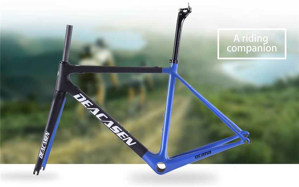 [해외]up1-1 / 4 & 탄소 도로 자전거 프레임 Di2 및 기계적 480 / 510 / 540 / 560 / 580mm 슈퍼 라이트 카본로드 프레임 + 포크 + 헤드셋 탄소 프레임/up1-1/4&Carbon Road Bike Frame  Di2 and Me