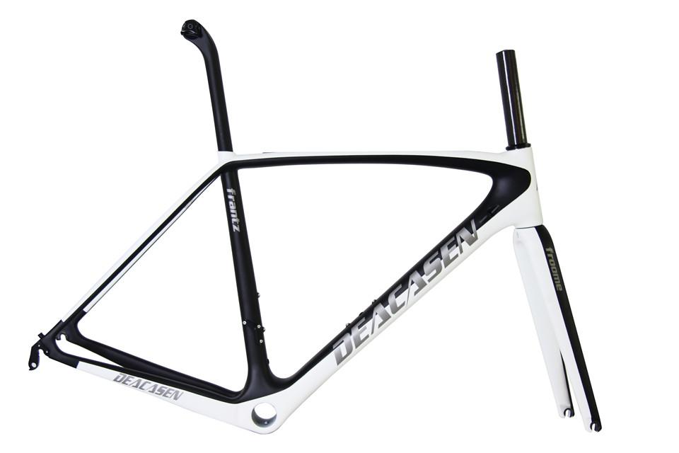 [해외]Di2 & 기계식 탄소 섬유 자전거 프레임 DEACASEN UD 경주 용 자전거 도로 프레임 + 포크 + 시트 포스트 + 탄소 자전거 용 헤드셋/Di2&Mechanical carbon fiber bicycle frame  DEACASEN UD ra