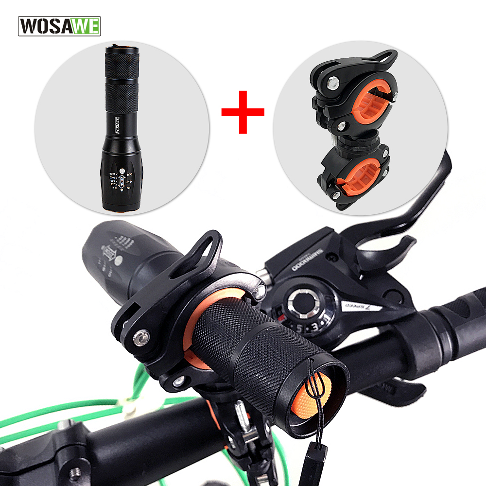 [해외]WOSAWE 1000 루멘 MTB 자전거 라이트 T6 LED 방수 줌 자전거 손전등 토치 홀더 충전식 5 모드 자전거 액세서리/WOSAWE 1000 Lumen MTB Bike Light T6 LED Waterproof Zoom Bicycle Flashlight
