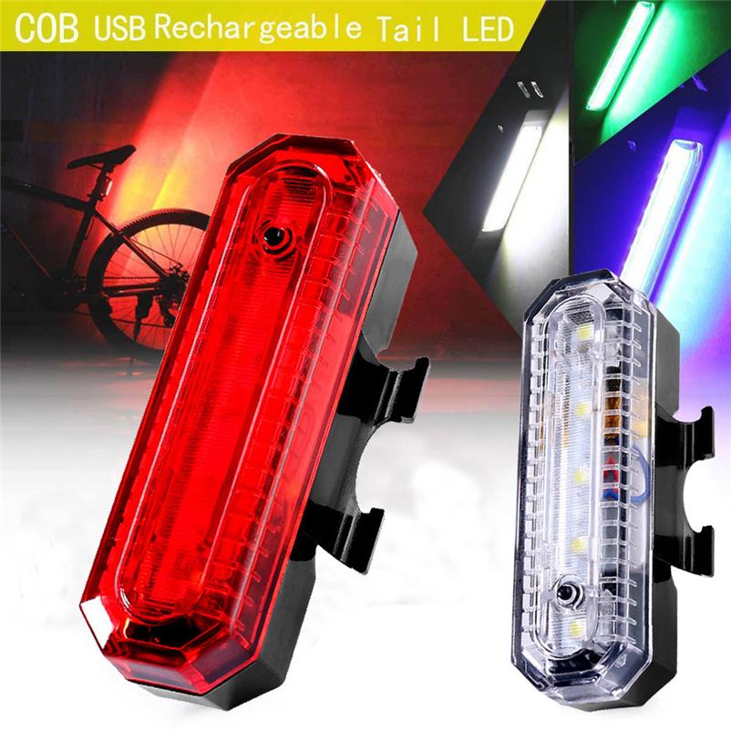 [해외]자전거 충전식 COB LED USB 산악 자전거 테일 라이트 미등 MTB 안전 경고 자전거 후방 라이트 자전거 램프 4MY25/Bicycle Rechargeable COB LED USB Mountain Bike Tail Light Taillight MTB Saf