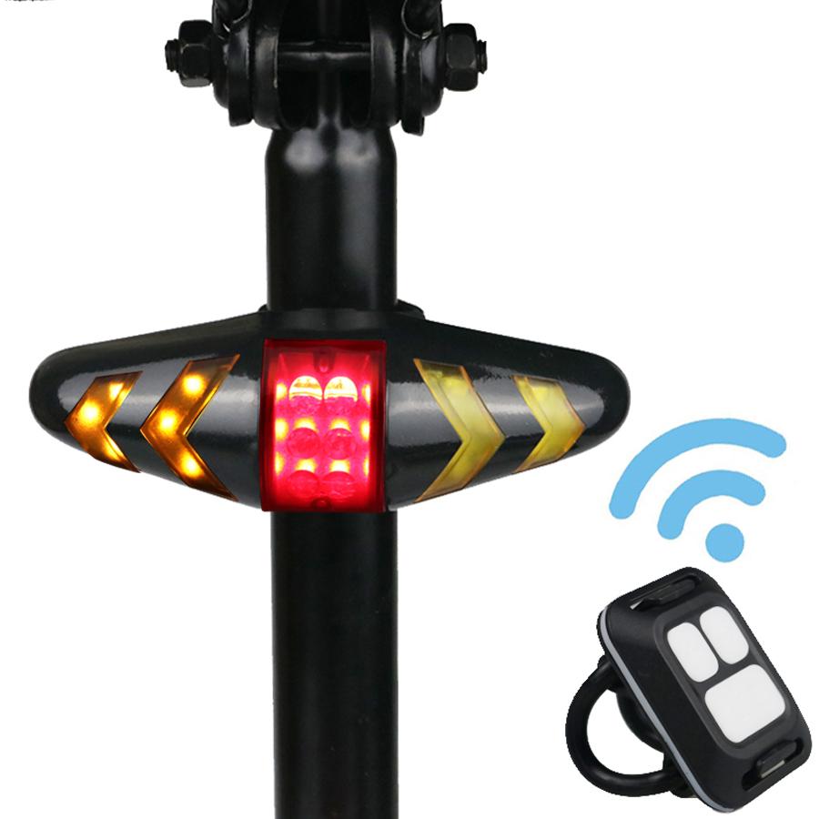 [해외]NEWBOLER X5 무선 자전거 자전거 후면 빛 레이저 꼬리 램프 스마트 USB 충전식 사이클링 액세서리 원격 턴/NEWBOLER X5 Wireless Bike Bicycle Rear Light laser tail lamp Smart USB Rechargeab