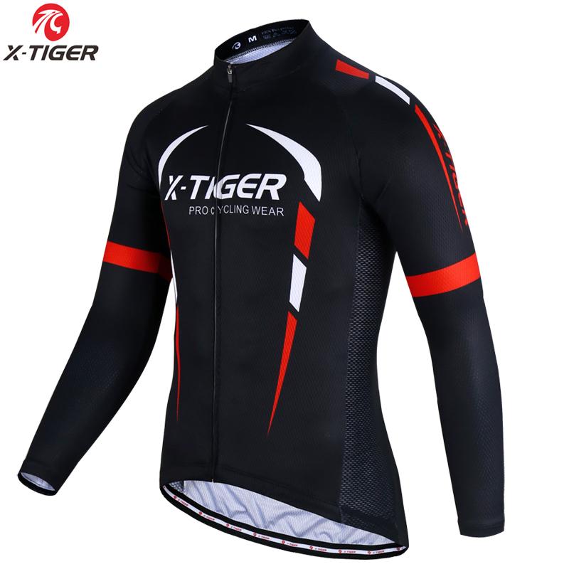 [해외]X-TIGER 긴 Retail 프로 사이클링 유니폼 남성 MTB 자전거 의류 자전거 사이클링 의류 Maillot Ropa Ciclismo Cycling Sportwear/X-TIGER Long Sleeve Pro Cycling Jerseys Men MTB Bik
