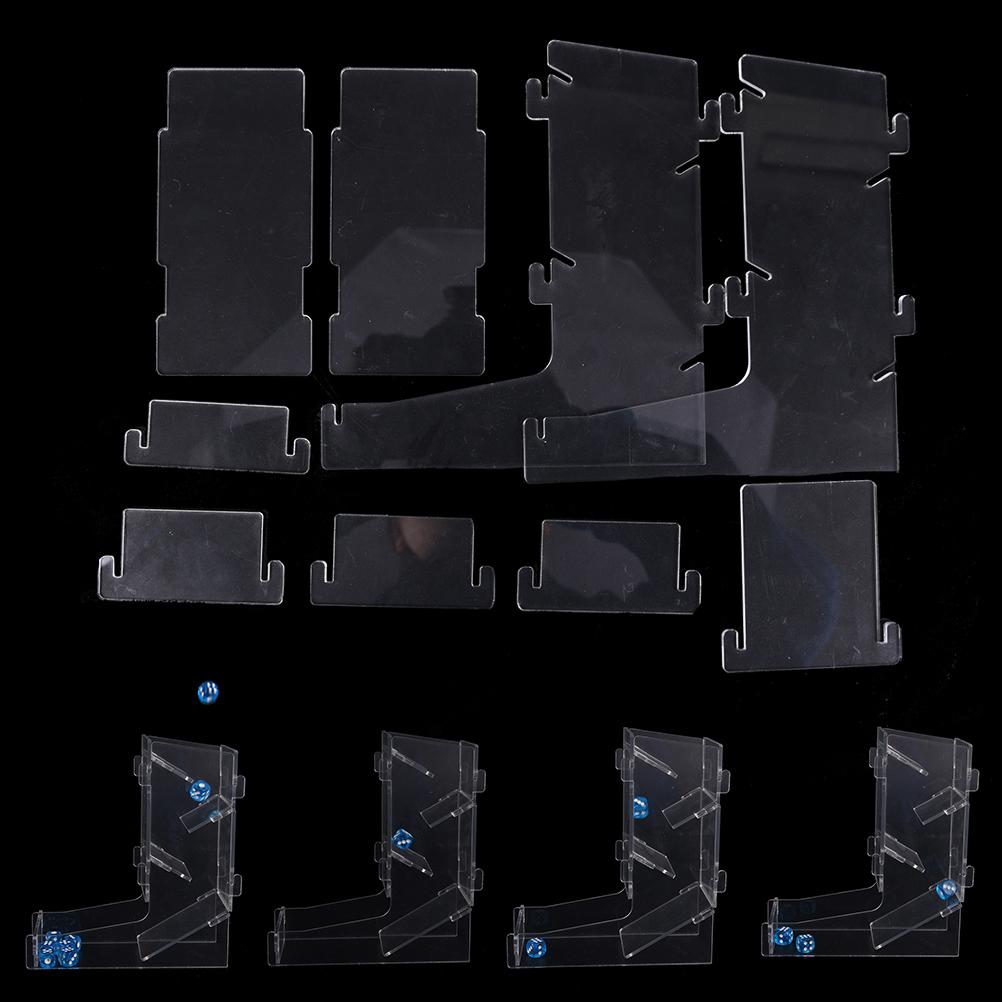 [해외]?주사위 던지기 창조적 주사위 게임 타워 투명 주사위 타워 게임 액세서리/ Throw the dice Creative Dices Game Tower Transparent Dice Tower Game Accessories