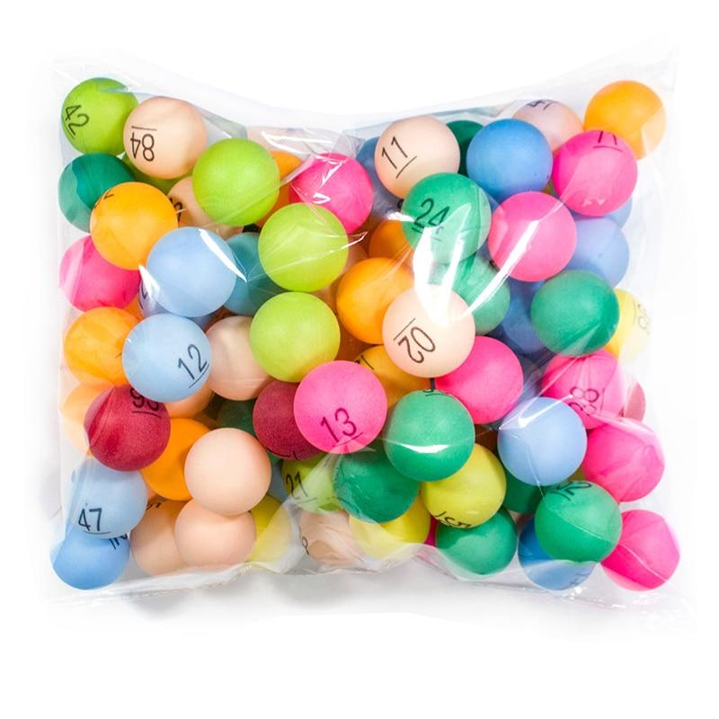 [해외]100pcs/Pack 40mm Colorful Ping Pong Balls Table Tennis Ball With 1- 100 Numbers For Lottery Entertainment Balls ABS Plastic 2.4g/100pcs/