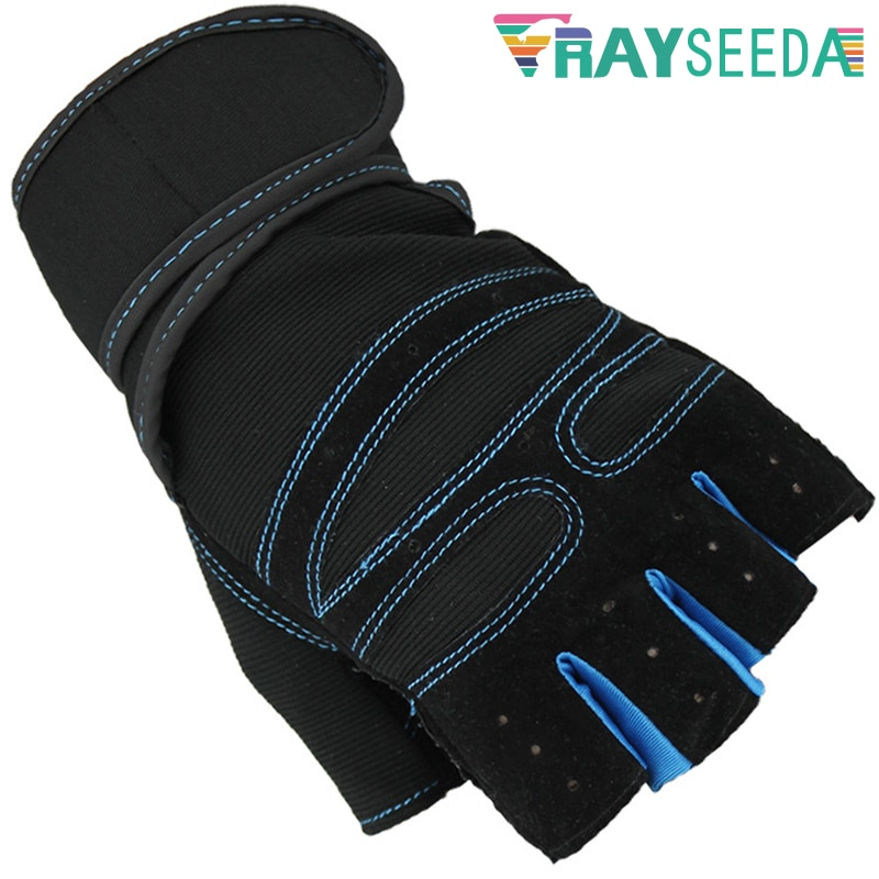 [해외]Rayseeda Half Finger Cycling Gloves Breathable Wrist Support Anti-Slip Riding Bike Gloves For Weight Lifting Gym Fitness Uni/Rayseeda Half Finger