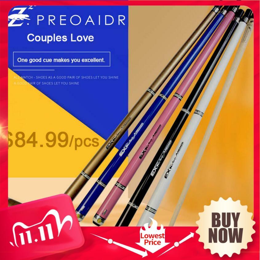[해외]PREOAIDR 3142 EX Billiard Pool Cue Stick Tip 10mm 11.5mm 13mm 5 Colors Billiard Kit  Professional Billar Black 8 Durable  China/PREOAIDR