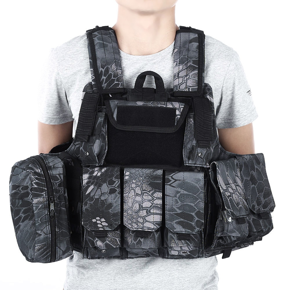 [해외]CS Tactical Hunting Vest Molle Military Waistcoat Assault Plate Carrier Vest Airsoft Paintball Combat VestMagazine Pouch/CS Tactical Hunting Vest