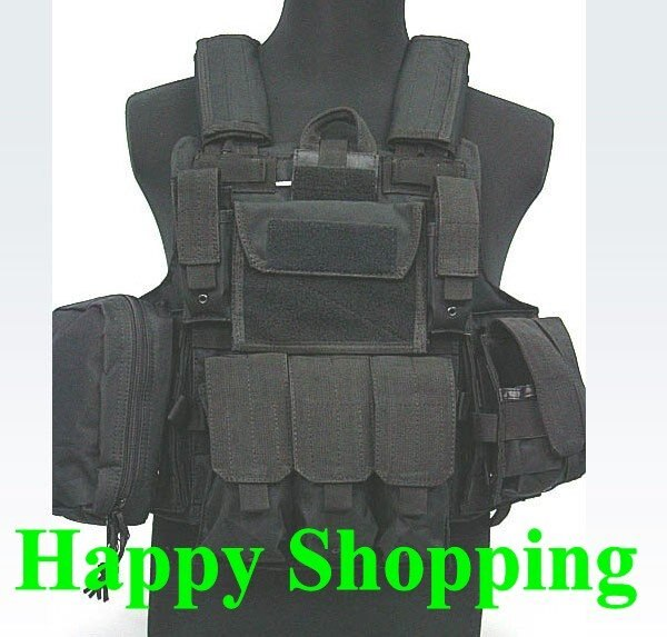 [해외]Tactical Heavy Duty Molle Combat Strike Plate Carrier Hunting Outdoor Vest Black/Tactical Heavy Duty Molle Combat Strike Plate Carrier Hunting Out