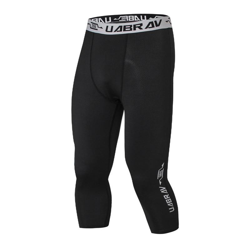 [해외]AGEKUSL Compression Cycling Cropped Tights Pants Men Breathable Anti-sweat Sports MTB Bike Road Bicycle Base Underwear Trousers/AGEKUSL Compressio