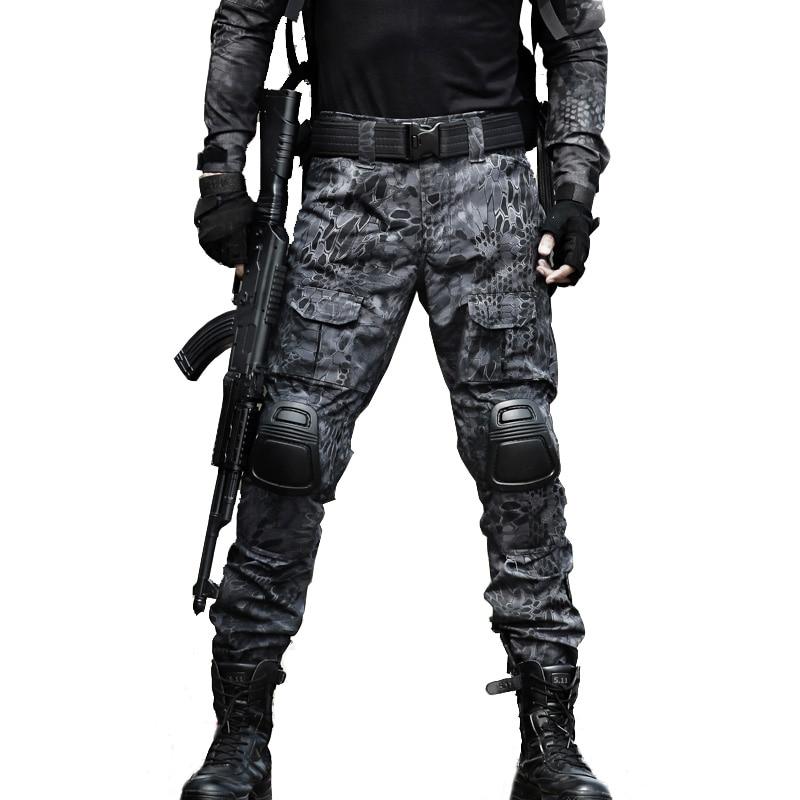 [해외]Military Uniform Tactical Pants Multi-Pocket Mens Tactico PantKnee Pads SWAT Army Pantalones Hombre Combat Hiking Clothing/Military Uniform Tactic