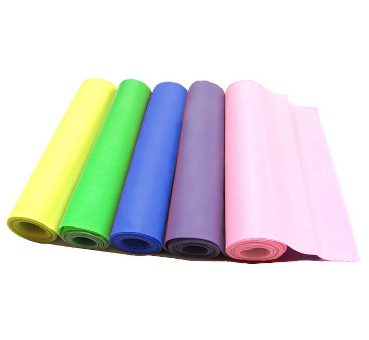 [해외]1Pc 1.5m * 15cm 컬러 요가 필라테스 고무 스트레치 저항 운동 연습 휘트니스 밴드/1Pc 1.5m*15 cm Color Yoga Pilates Rubber Stretch Resistance Exercise Practice Fitness Band