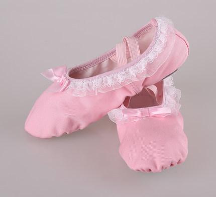 [해외]전문 댄스 신발 핑크 ??레이스 귀여운 캔버스 신발 품질 캔버스 어린이 발레리나 신발을 EU24-40 댄스 슬리퍼 5119/Professional dance shoes Pink lace cute canvas shoes Quality canvas children