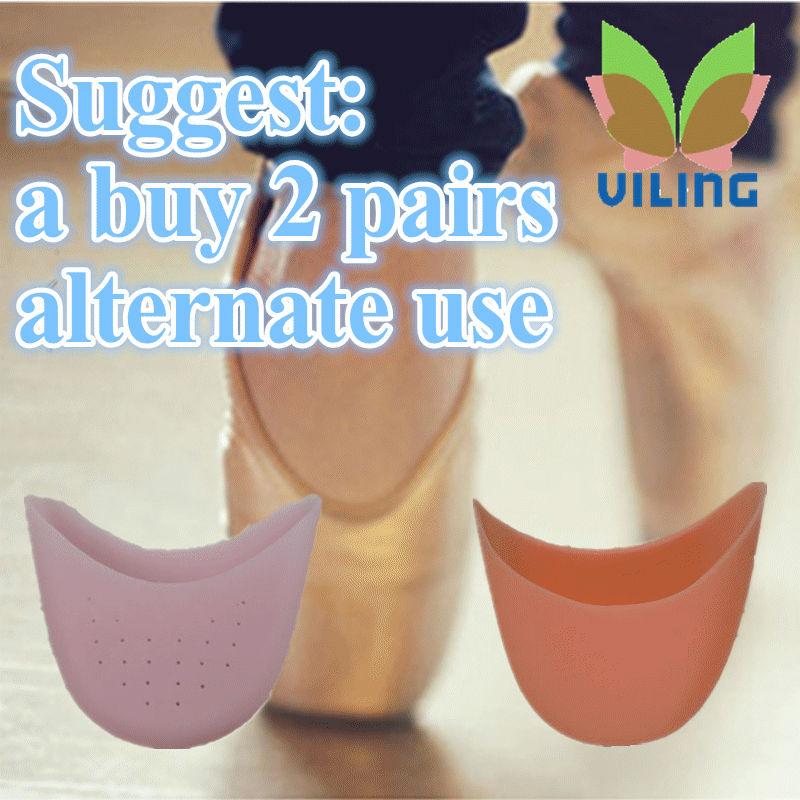 [해외]엥에 대한 실리콘 발레 댄스 소프트 구두 패드 여성은 굽 높은 신발 발가락 모자 오렌지 핑크 색상 의료 실리카 젤 패드/silicone Ballet dance Soft Shoe Pads women high-heeled shoe toe cap orange pink
