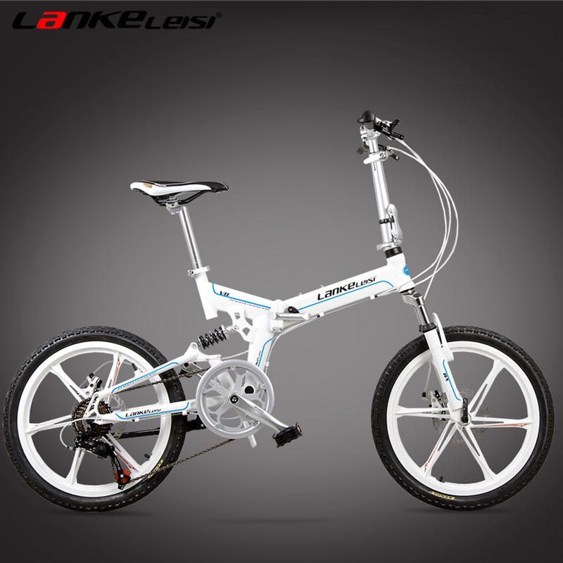 [해외]7 속도, 20 인치, 접이식 자전거, 마그네슘 합금 림, 전면 및 후면 디스크 브레이크, 최고의 브랜드 속도 제어 시스템./7 Speed, 20 inches, Folding Bike, Magnesium Alloy Rim, Front and Rear Disc B