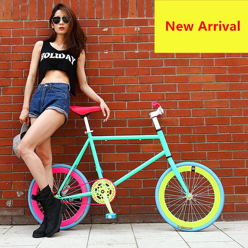 [해외]새로운 브랜드 고정 자전거 20 인치 휠 50cm 프레임 후면 페달 브레이크 미니 자전거 야외 스포츠 BMX Bicicleta/New Brand Fixed Bike 20 inch Wheel 50 cm Frame Rear Pedal Brake Mini Bicycl