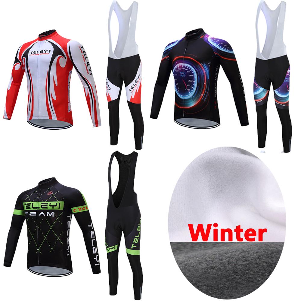 [해외]2017 남자 겨울 열 양 털 사이클링 저지 레이싱 자전거 의류 프로 팀 자전거 의류 남자 레트로 MTB 재킷 Maillot 유니폼/2017 Men Winter Thermal Fleece Cycling Jersey Racing Bike Clothes Pro Te