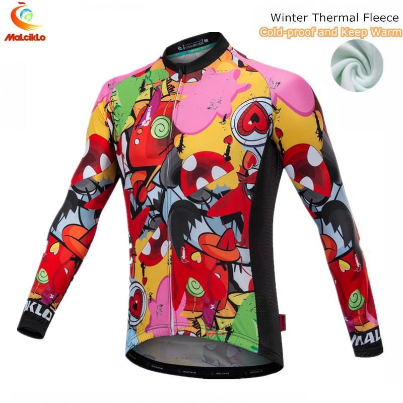 [해외]방한 및 보온 온열 사이클링 저지 2018 긴 Retail 겨울 사이클링 자켓 Ropa Ciclismo Maillot MTB 자전거 의류/Cold-proof and Keep Warm Thermal Cycling Jersey 2018 Long Sleeve Wint