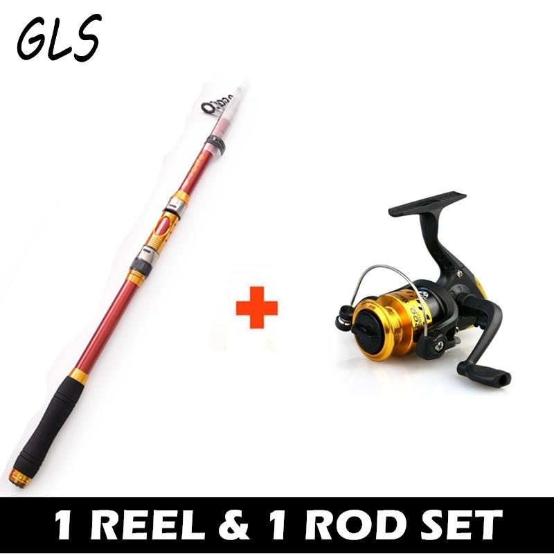 [해외]낚싯대와 릴 2.1M의 조합 2.4M 2.7M 3.0M 3.6M 휴대용 텔레스코픽 낚시대 선물 나일론 낚시 줄/Combination of fishing rod and reel2.1M 2.4M 2.7M 3.0M 3.6M Portable Telescopic Fish