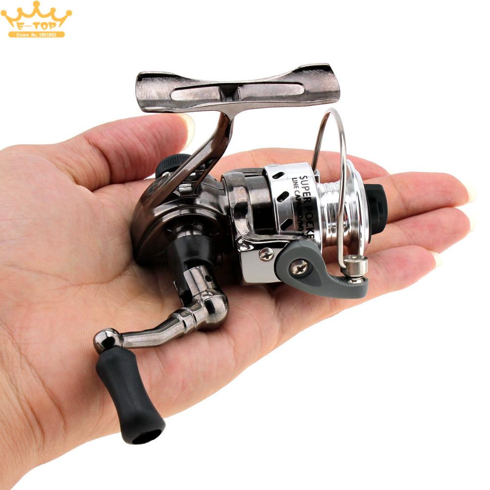 [해외]미니 낚시 릴 손바닥 크기 금속 코일 Poket 아이스 피쉬 펜 낚싯대에 대한 작은 스피닝 릴/Mini Fishing Reel Palm Size Metal Coil Poket Small Spinning Reel for Ice Fish Pen Fishing Rod
