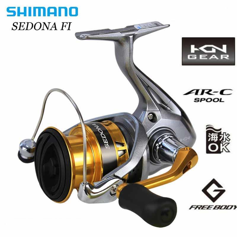 [해외]SHIMANO SEDONA FI 방적 낚시 릴 3 + 1BB 알루미늄 스풀 4kg HAGANE GEAR Max Drag Spinning Fishing Reels/SHIMANO SEDONA FI Spinning Fishing Reel 3+1BB Aluminum S