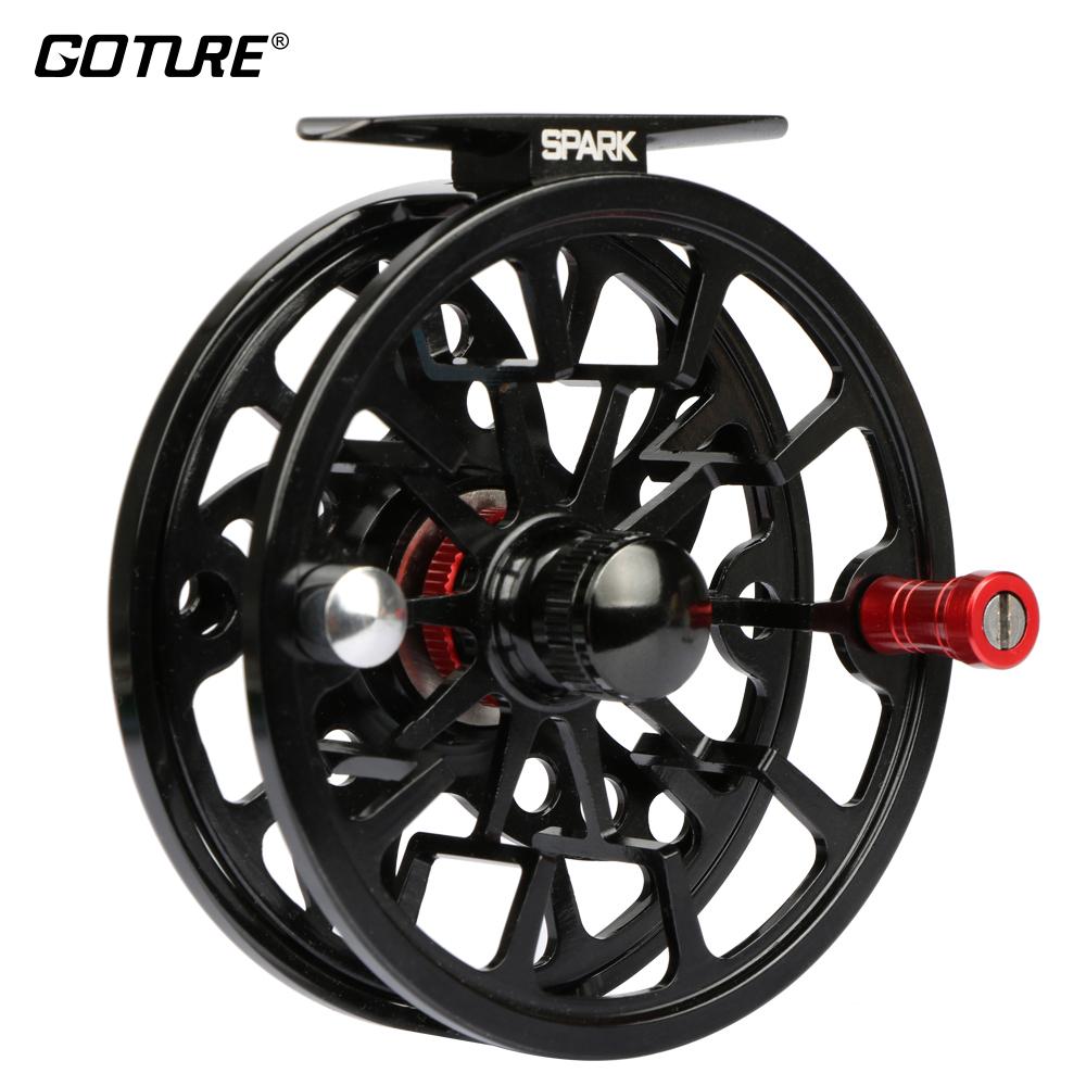 [해외]Goture 알루미늄 플라이 피싱 릴 5/6 7/8 WT 경량 CNC 가공 대형 아버 플라이 릴 최대 드래그 8kg 낚시 릴/Goture Aluminum Fly Fishing Reel 5/6 7/8 WT Light-weight CNC-machined Large