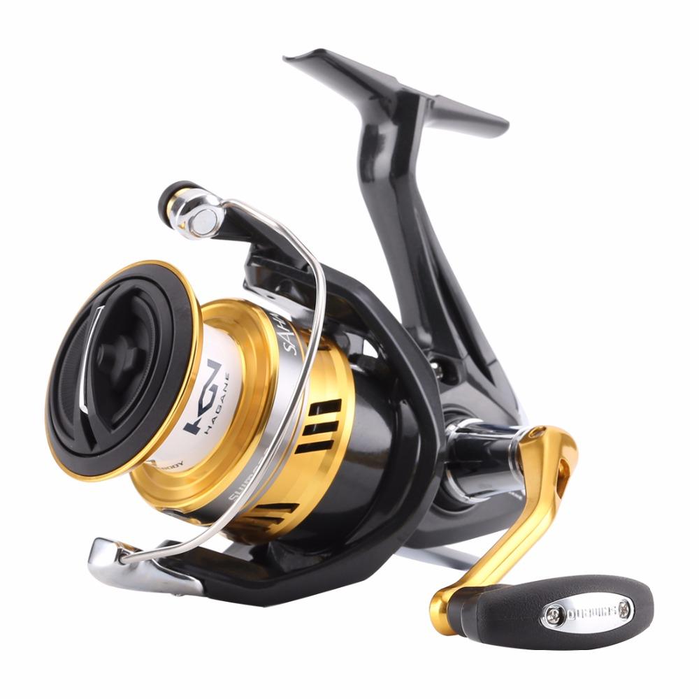 [해외]?새로운 오리지널 시마노 사하라 피 스피닝 피싱 릴 1000 2500 C3000 4000 4 + 1BB 하긴 기어 X-Ship 해수 낚시 릴/ New Original Shimano SAHARA FI Spinning Fishing Reel 1000 2500 C30